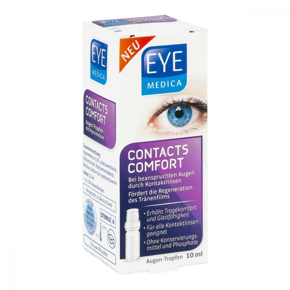 DISTRICON GmbH Eyemedica Contacts Comfort Kontaktlinsen Augentropfen 10 ml 16232787