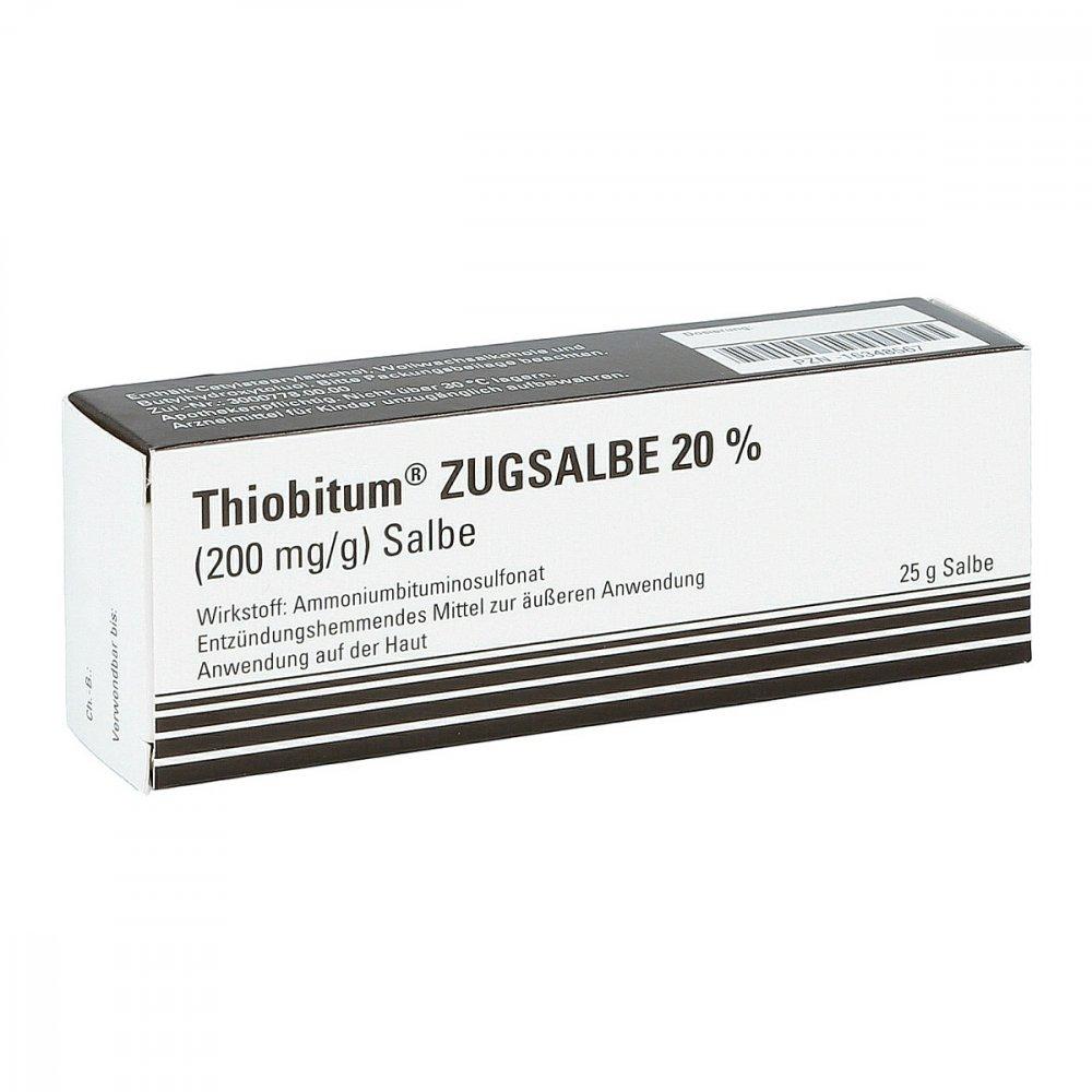 INFECTOPHARM Arzn.u.Consilium Gm Thiobitum Zugsalbe 20% 200 mg/g Salbe 25 g 16348567