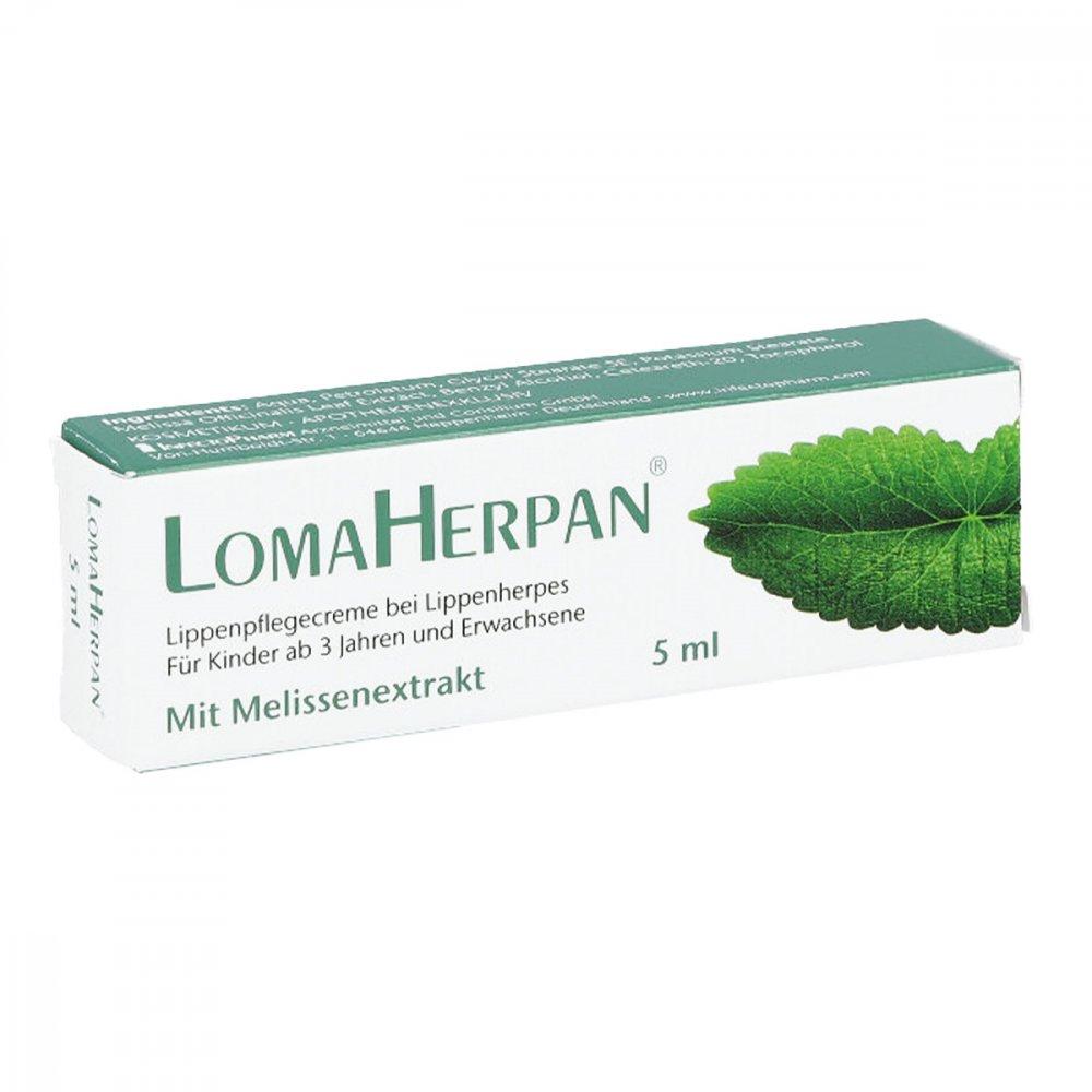 INFECTOPHARM Arzn.u.Consilium Gm Lomaherpan Lippenpflegecreme mit Melissenextrakt 5 ml 16738877