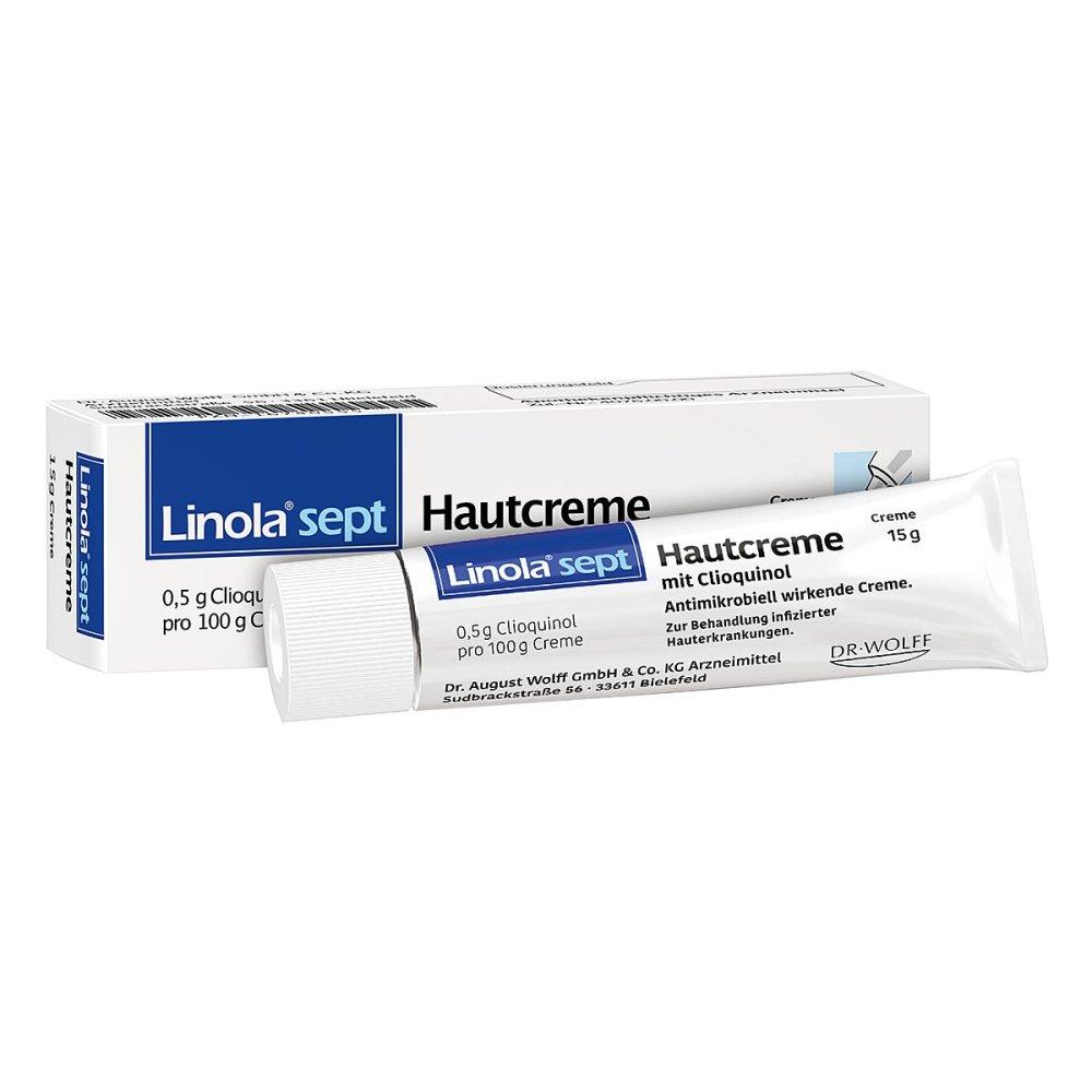 Linola sept Hautcreme mit Clioquinol 15 g 16740555