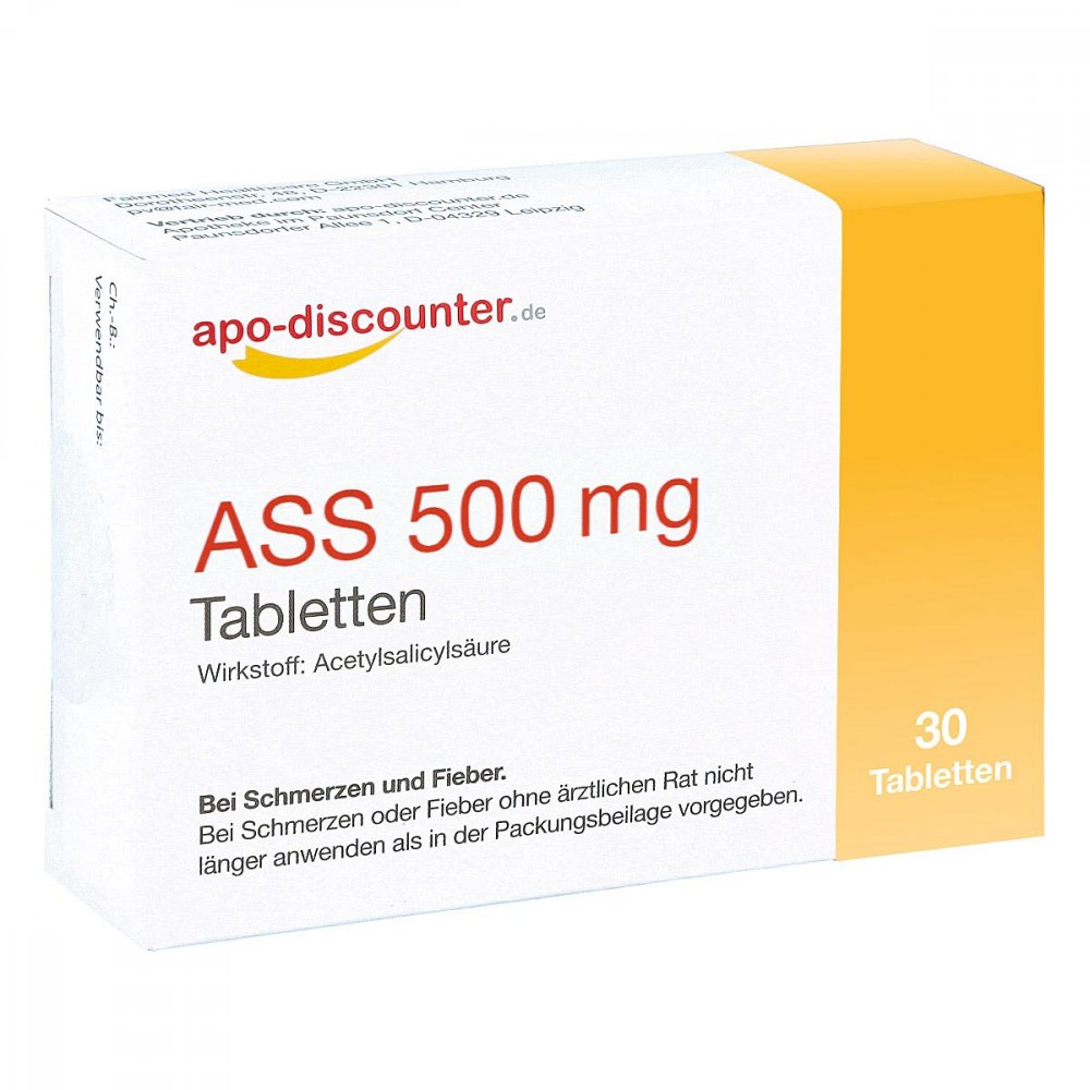 Ass 500 mg Tab apo-discounter 30 stk 16762976