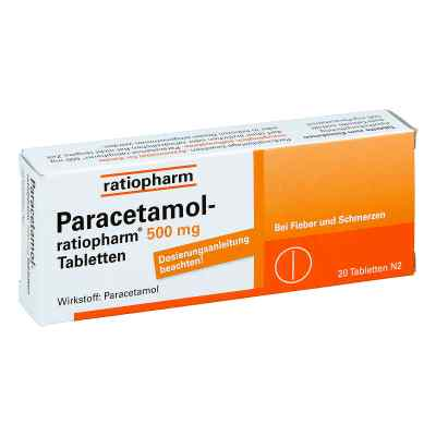 Paracetamol ratiopharm 500mg  bei apolux.de bestellen