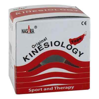 Nasara Kinesio Tape 5 cmx5 m rot inkl.Spenderbox  bei apolux.de bestellen