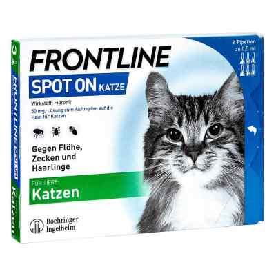 Frontline Spot on Katze veterinär Lösung gegen Flöhe und Zecken  bei apolux.de bestellen