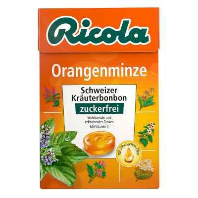 Ricola ohne Zucker  Box Orangenminze Bonbons  bei apolux.de bestellen