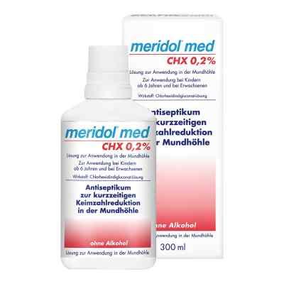Meridol med CHX 0,2% Lösung zur Anwendung in der Mundhöhle  bei apolux.de bestellen