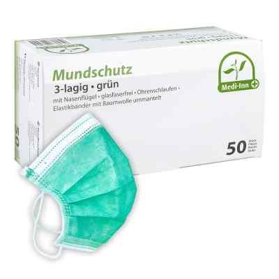 Medi Inn Mundschutz Maske mit Bändern grün  bei apolux.de bestellen
