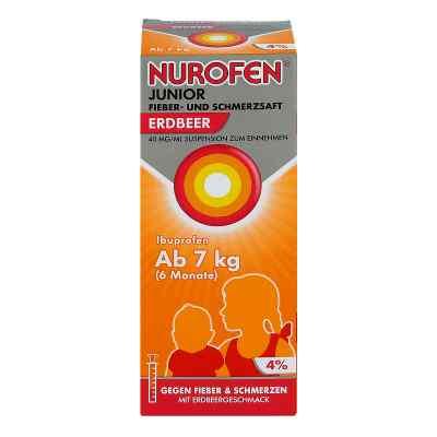 Nurofen Junior Fieber- und Schmerzsaft Erdbeer 40mg/ml  bei apolux.de bestellen