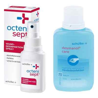 Octenisept Lösung 50ml + Desmanol pure Händedesinfektion 100ml  bei apolux.de bestellen
