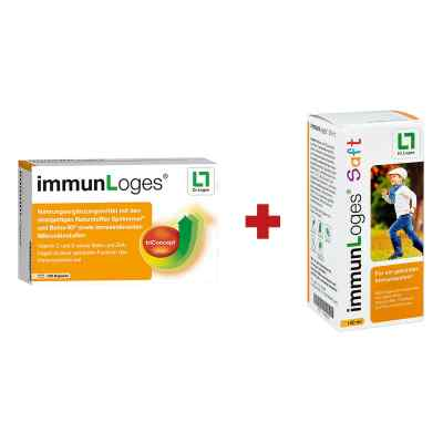 immunLoges Kapseln 120stk + GRATIS immunLoges Saft 150ml  bei apolux.de bestellen