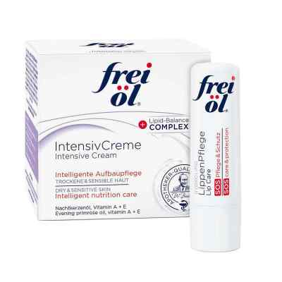 Frei Öl Intensivcreme (50 ml) + Frei Öl Lippenpflege gratis  bei apolux.de bestellen