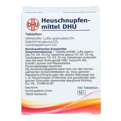 Heuschnupfenmittel Dhu Tabletten  bei apolux.de bestellen