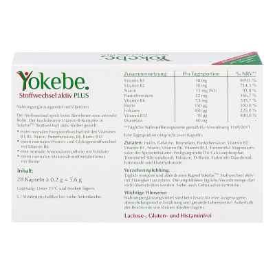 Yokebe Plus Stoffwechsel aktiv Kapseln  bei apolux.de bestellen