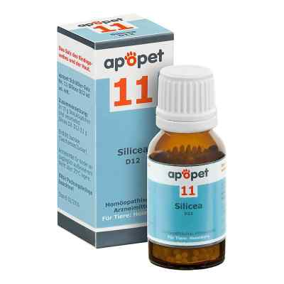 Apopet Schüssler-salz Nummer 11  Silicea D 12 Globuli veterinär   bei apolux.de bestellen