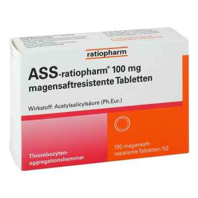 Ass ratiopharm 100 mg magensaftresistent   Tabletten  bei apolux.de bestellen