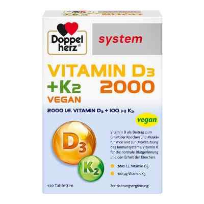 Doppelherz Vitamin D3 2000+k2 system Tabletten  bei apolux.de bestellen