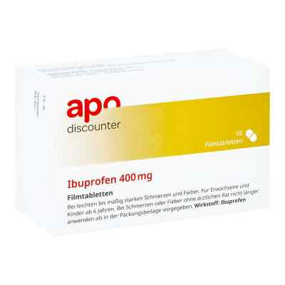 Ibuprofen 400 mg von apo-discounter Schmerztabletten  bei apolux.de bestellen