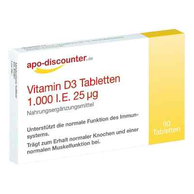 Vitamin D3 Tabletten 1000 I.e. 25 [my]g von apo-discounter  bei apolux.de bestellen