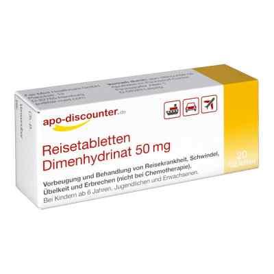 Reisetabletten Dimenhydrinat 50 mg Tabletten von apo-discounter  bei apolux.de bestellen