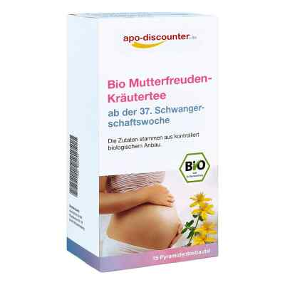 Bio Mutterfreuden-Kräutertee mit Himbeerblätt.Fbtl. von apo-disc  bei apolux.de bestellen