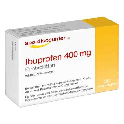 Ibuprofen 400 mg Filmtabletten von apo-discounter  bei apolux.de bestellen