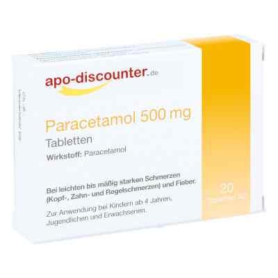 Paracetamol 500 mg Tabletten von apo-discounter  bei apolux.de bestellen