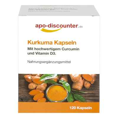 Kurkuma Kapseln mit Curcumin von apo-discounter  bei apolux.de bestellen